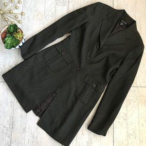 New York & Company gray duster blazer coat size 6